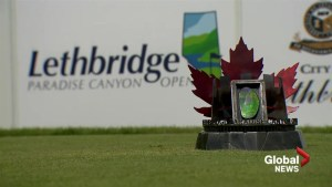 Ammolite trophy sets Lethbridge apart on the Mackenzie Tour