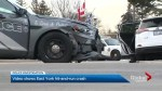 Toronto police cruiser involved in crash while responding to hit-and-run collision