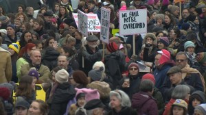 Women's March on Washington: People gather in Montreal for women's rights