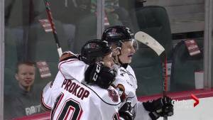 Hurricanes fall 5-3 to Hitmen in Game 3