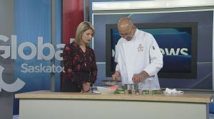 Sheraton Cavalier executive chef Robin Andreas prepares vegetarian ravioli