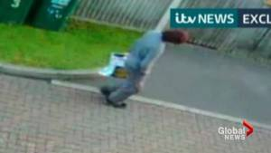 Video appears to show London subway attack suspect carrying bag containing explosive