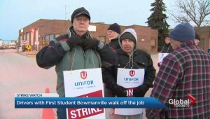 Bus drivers from communities east of Toronto go on strike