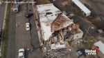 Drone footage shows aftermath of furniture store destroyed by tornado