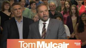 Mulcair announces plan to establish independant budget watchdog if elected