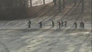 Ski club coach builds makeshift jump at Calgary golf course