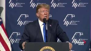 Trump draws laughter, boos for Democrats' 'Green New Deal'