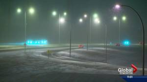 Edmonton hit with slippery road conditions