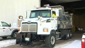 City of Winnipeg Busy Plowing and Sanding Streets
