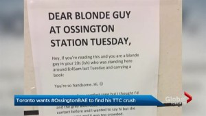 Toronto man takes unique approach to finding love at Ossington Subway Station