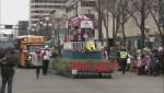 Grey Cup Parade gets holiday twist