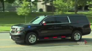PM Trudeau's motorcade arrives at Danforth shooting victim's funeral