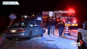 Snow, ice cause vehicles to crash in Burlington
