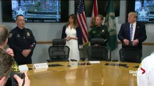 Trump commends officer who found and arrested Florida school shooter