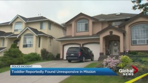 Toddler reportedly found unresponsive in Mission