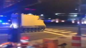 Police chase stolen armored vehicle in Virginia