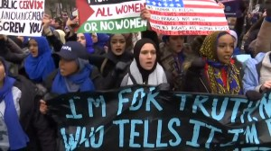 Thousands turn out for third straight year for Women's March