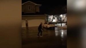 Freezing rain turns Regina road into skating rink
