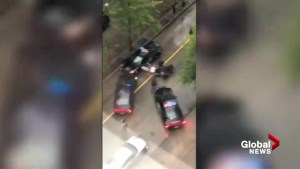 Video shows police takedown after man jumps in VPD cruiser
