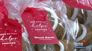 Gingerbread cookie campaign for food banks