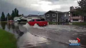 Back-to-black floods in Stony Plain