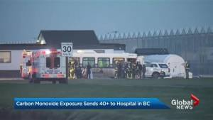 Carbon monoxide exposure sends over 40 people to hospital in Delta, BC