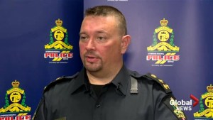 Lethbridge police chief speaks to reporters about racist video investigation