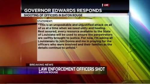 Louisiana governor calls Baton Rouge shooting of cops 'unjustified'