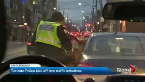 Toronto police driving blitz targets distracted driving, rush hour lane parking