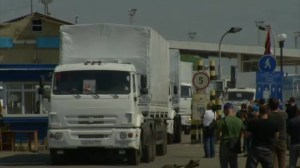Russian convoy enters Ukraine