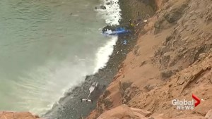 48 dead after bus plunges off Peru cliff along popular highway