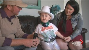 2-year-old Trenton, Ont., boy dressing as Gord Downie for Halloween