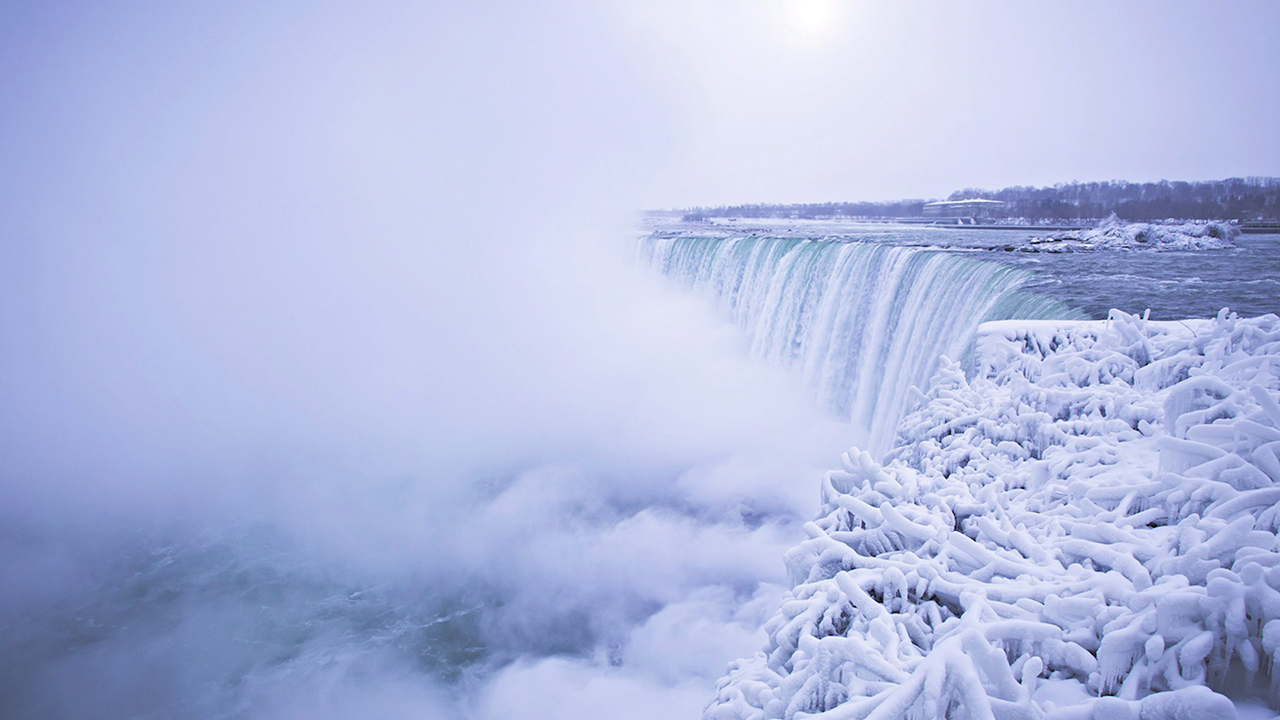 Niagara Falls frozen and covered in ice as winter weather slams US
