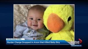 Murder charge withdrawn in Edmonton arson that killed baby boy