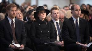 Royals, emergency services and politicians attend Grenfell memorial service