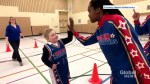 11-year-old reunites with Harlem Globetrotters after battling brain tumor
