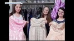 A local student and her friends have acquired many prom and grad dresses for those who can't afford to buy one