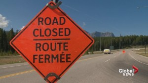 Wildfire closes Highway 93 in both directions to B.C. Alberta border