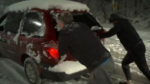 Snow causes chaos in the lower mainland