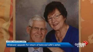 Mississauga widower appeals for return of beloved wife's ashes