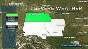 September snow falls in Edmonton area