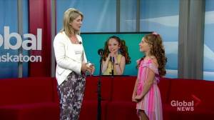 11-year-old Saskatchewan girl sings 'Dancing on the Beach'