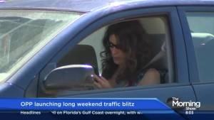 OPP to keep a close eye on distracted drivers this long weekend