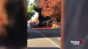 Richmond lawn tractor fire
