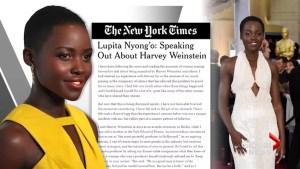 Lupita Nyong'o reveals: Harvey led me into his bedroom