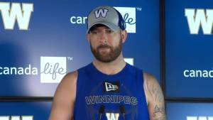 RAW:  Blue Bombers Matt Nichols Interview – Aug. 14