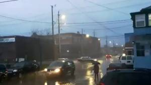 Lightning flashes over Hamilton as thunderstorm soaks Southern Ontario