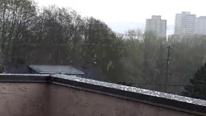 Nanaimo pelted by hail as spring storm hits Vancouver Island