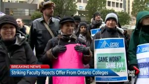 Strike continues as college faculty reject latest offer