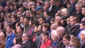 Thousands turn out for Remembrance Day ceremony in Saint John (01:46)